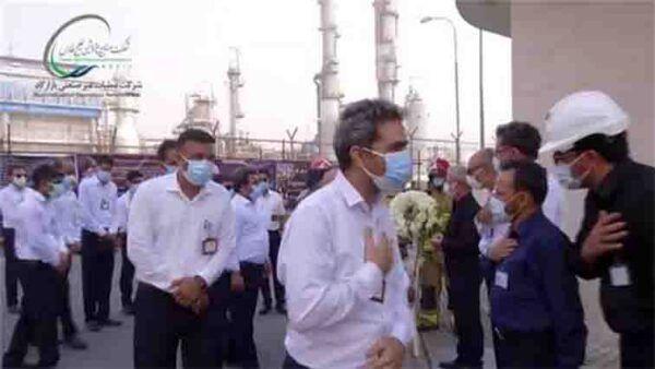 رژه و ادای احترام خودروهای HSE شرکتهای پتروشیمی منطقه پارس