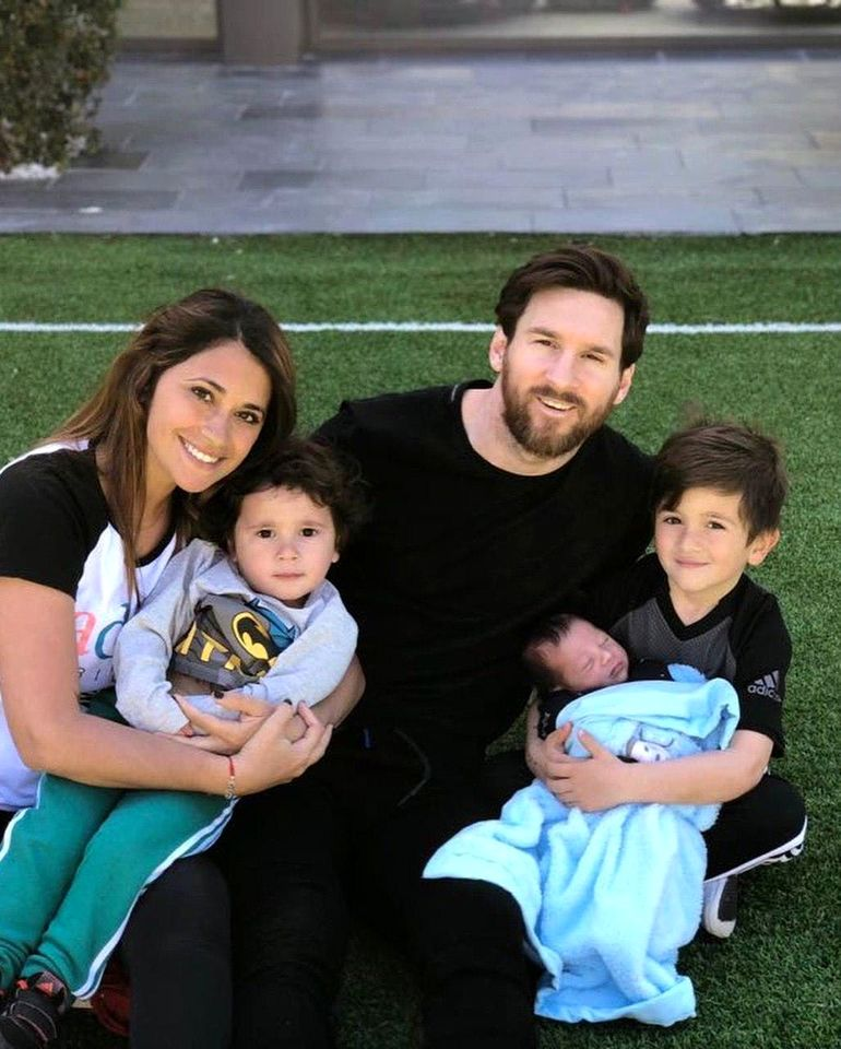 عکس همسر لیونل مسی + عکس فرزندانش