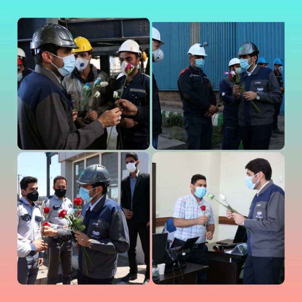 بازدید مدیرعامل فولاد سنگان از واحدهای مختلف شرکت