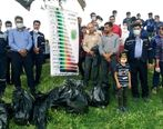 کارکنان پتروشیمی لردگان و مردم ، چشمهساران و طبیعت بکر منطقه را عاری از کیسه پلاستیک کردند