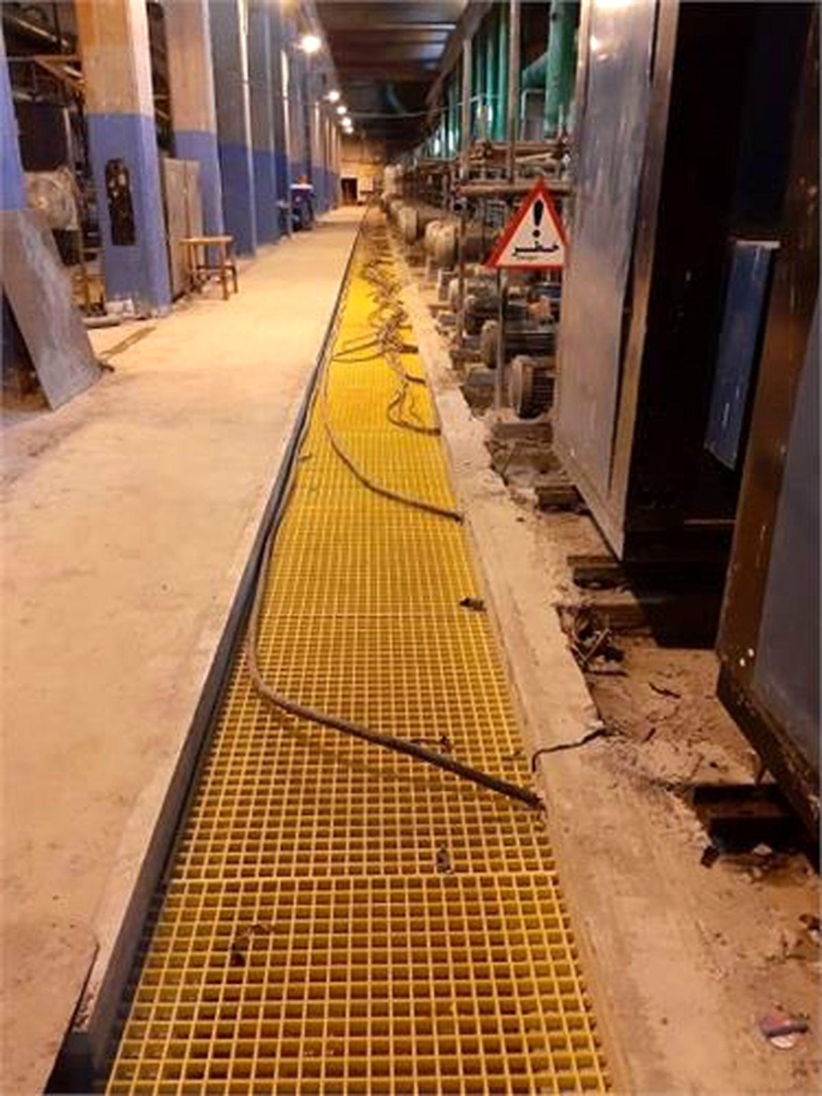 کانال کابلهای برق پمپخانه مرکزی تصفیه خانه آب بازسازی شد