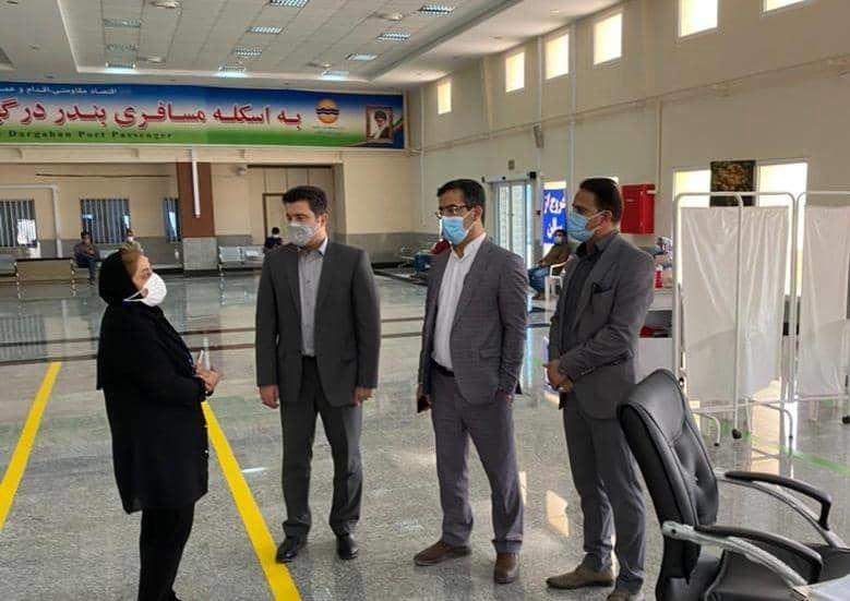 بازدید سرزده دادستان شهرستان قشم از مرکز واکسیناسیون درگهان