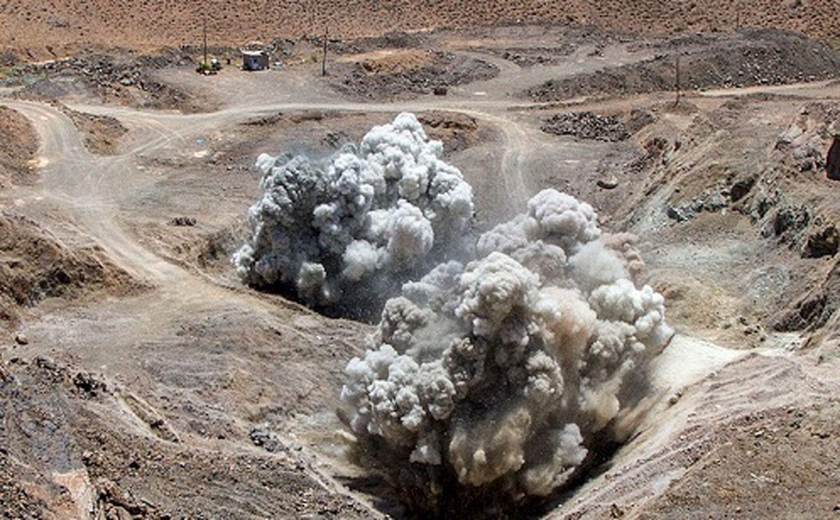 اولین انفجار در معدن مس تکنار بعد از یکسال وقفه