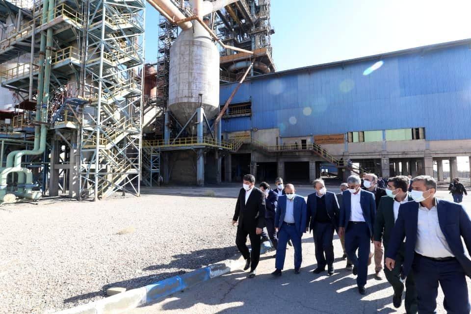 بازدید وزیر صمت از شرکت فولاد میبد