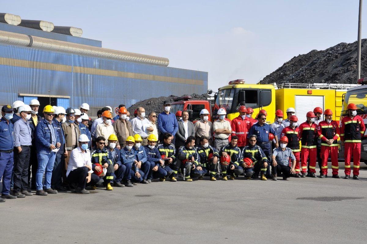 از تمامی پرسنل HSC و آتش نشانی در مجتمع صنعتی چادرملو تقدیر شد