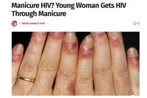 اتفاق وحشتناک در ارایشگاه زنانه / زن جوان ایدز گرفت + عکس دردناک