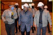 بازدید مدیرکل حراست «صندوق بیمه کشاورزان، روستاییان و عشایر» از خطوط تولید فولاد خراسان