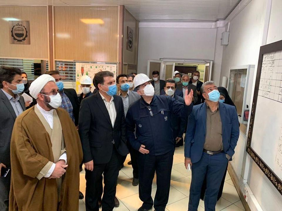 بازدید استاندار کرمان از مجتمع احیاء مستقیم و فولاد سازی شرکت فولاد سیرجان ایرانیان