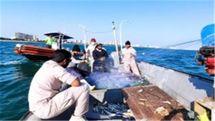 توقیف تورماهیگیری غیر مجاز از شناوری غیر بومی در کیش