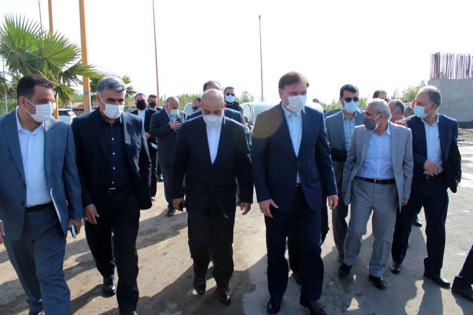 حضور مشاور رییسجمهور و دبیر شورایعالی مناطق آزاد کشور در منطقه آزاد انزلی