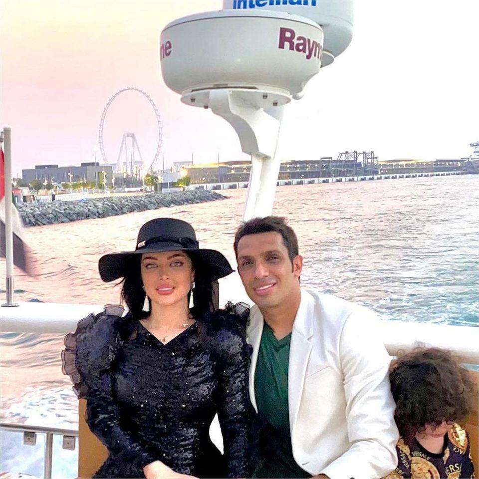 جشن تولد لاکچری سپهر حیدری برای همسرش روی قایق تفریحی در ترکیه + فیلم