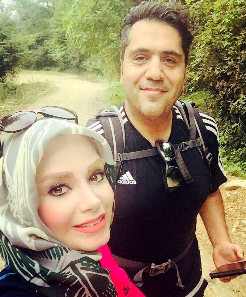 کشف حجاب صبا راد در آغوش همسرش + عکس