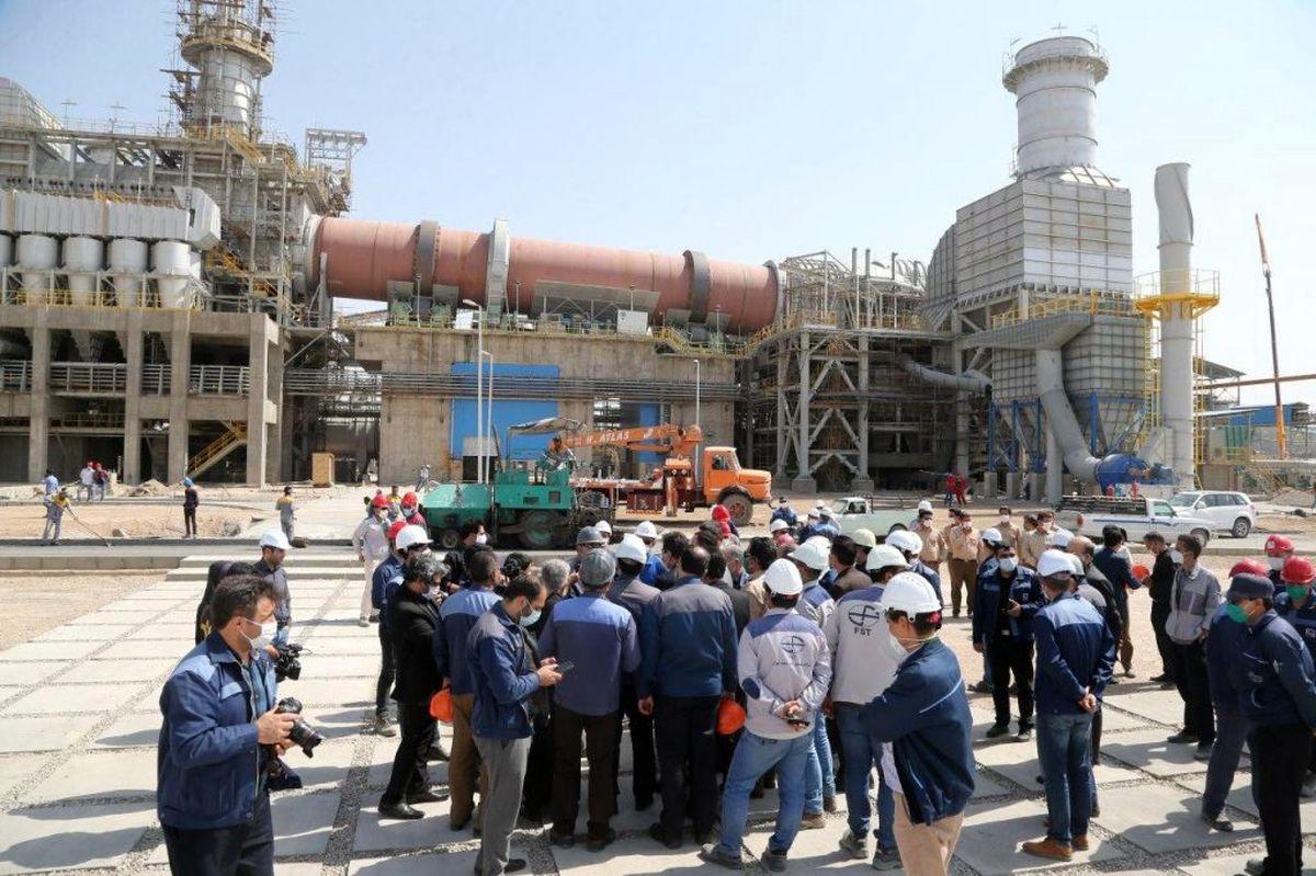بازدید معاون اقتصادی وزیر تعاون،کار و رفاه اجتماعی و هیئت همراه از پروژه های شرکت سنگ آهن