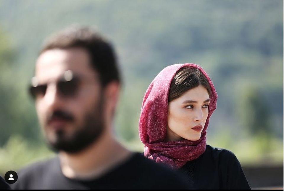 استایل جنجالی فرشته حسینی در کنار نوید محمدزاده + عکس