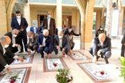 تجدید میثاق مشاور رییس جمهور با شهیدان انقلاب و دفاع مقدس در کنار قبور شهدای گمنام کیش