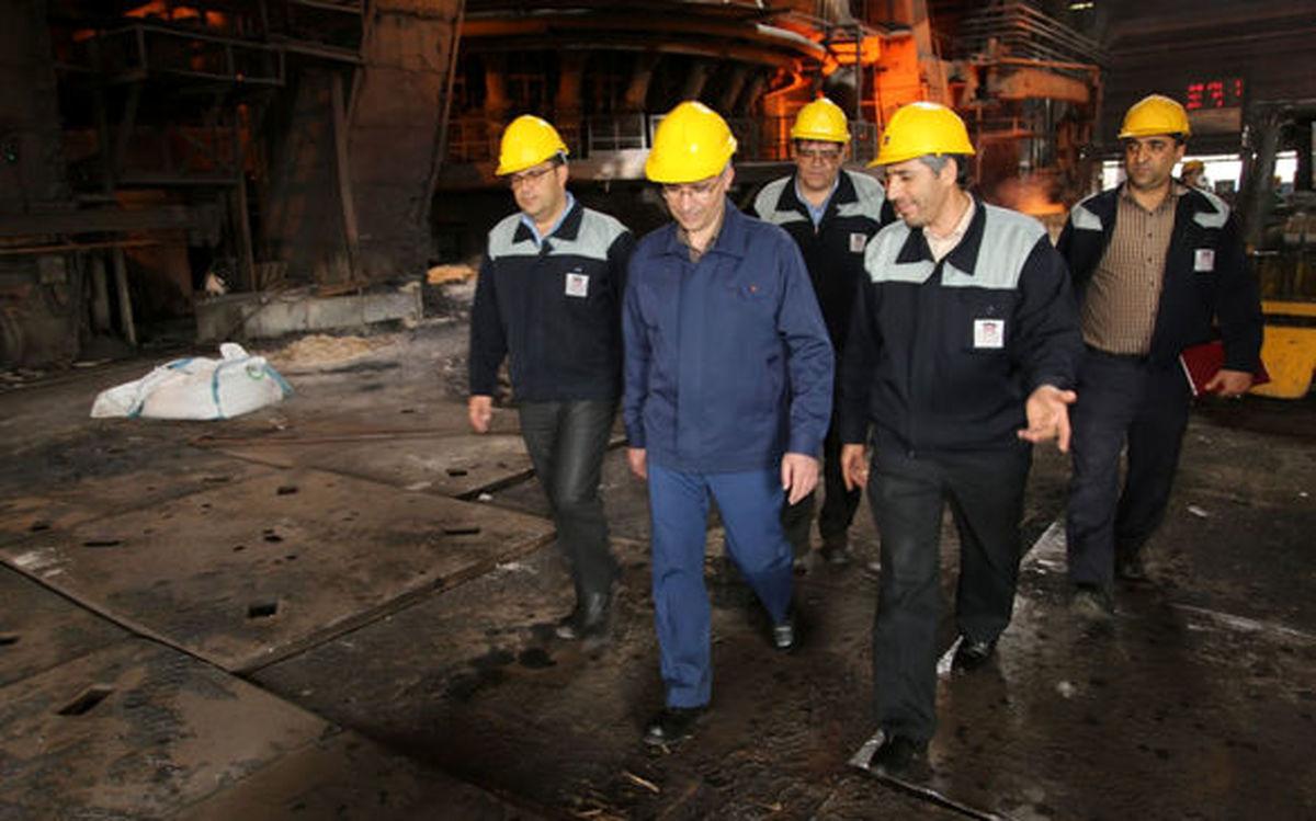 تقدیر مدیرعامل شرکت ذوب آهن از همت تلاشگران خط تولید